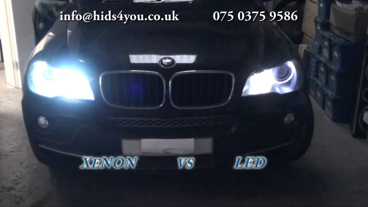 Bmw H8 Xenon Hid Angel Eyes Conversion Youtube