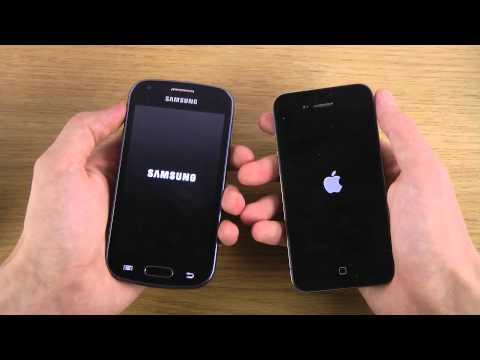 Samsung Galaxy Trend S7560 vs. iPhone 4 iOS 7 - Which Is Faster?