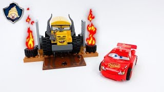 Disney Cars 3 Toys Lightning McQueen in Crazy 8 battle! Miss fritter attack and crash Movie for Kids