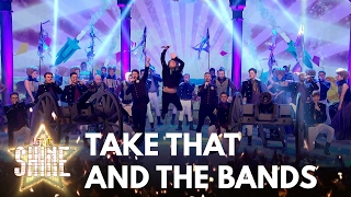 The final four bands perform a medley of songs with Take That - Let It Shine - BBC One