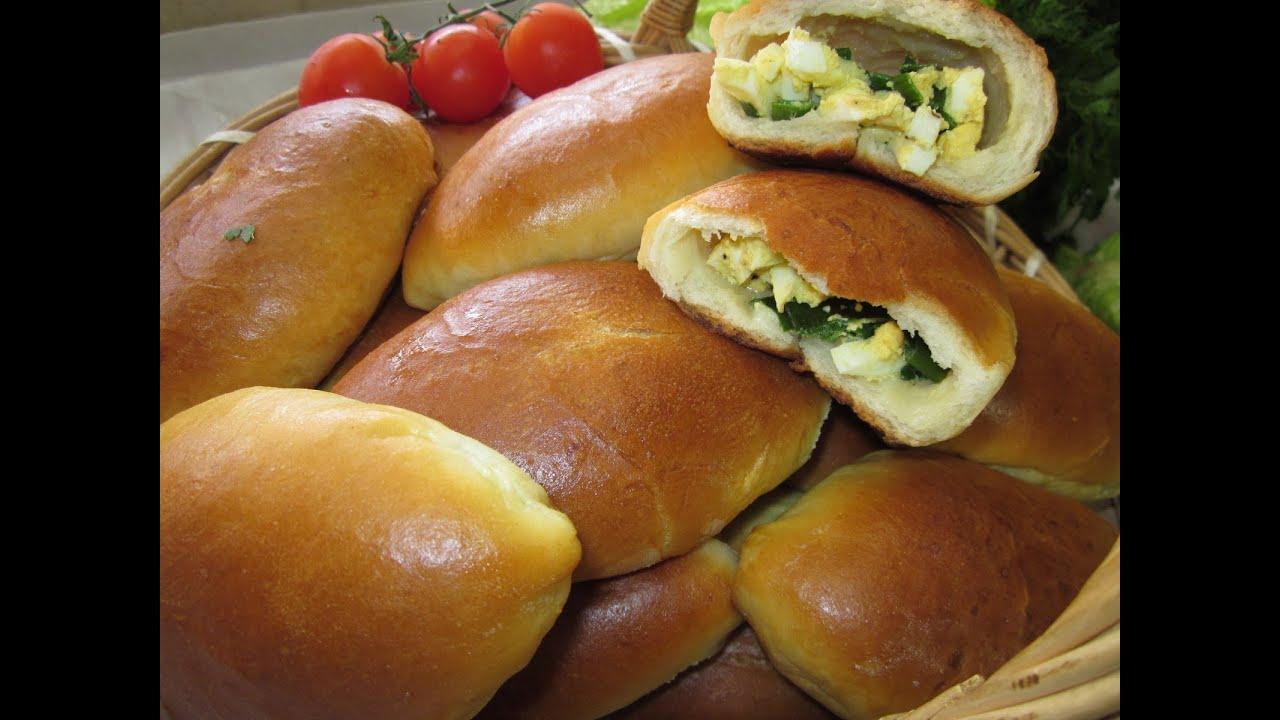Пирожки с и яйцом в духовке пошаговый рецепт с