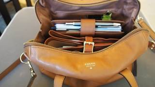 What's in my Bag (Fossil Sydney Satchel Camel)