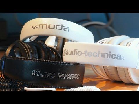 VModa M100 vs. Audio Technica ATH M50 vs. Sony MDR 7506 (Over Ear Headphone Comparison & Review)