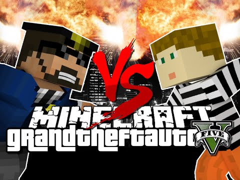 Minecraft GTA V Cops vs Robber Challenge
