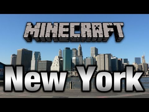 Minecraft New York City Map DOWNLOAD !!! (Time Square) [HD 720p]