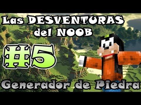 Minecraft | Las DESVENTURAS del NOOB #5 | Como hacer generador de COBBLESTONE
