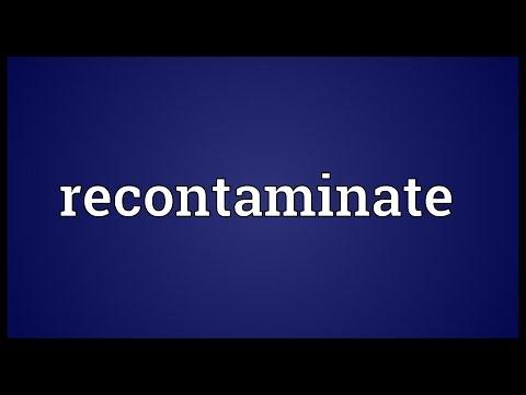 Header of Recontaminate