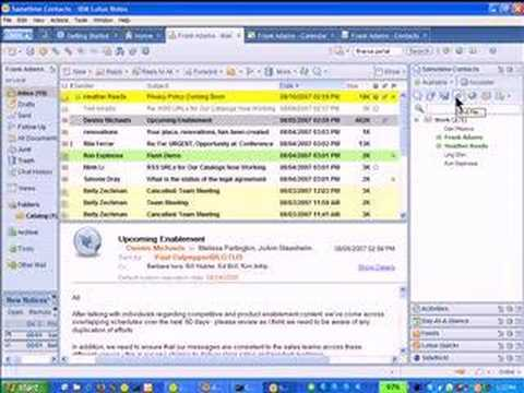 Lotus Notes 8 New Features Demonstration Youtube