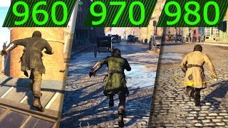 ASSASSINS CREED SYNDICATE GTX 960 vs GTX 970 vs GTX 980 GAMEPLAY