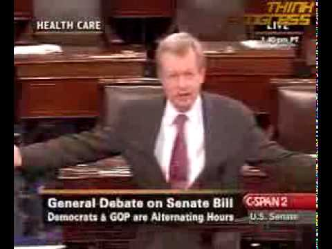 Senator Max Baucus Drunk / Intoxicated on Senate Floor