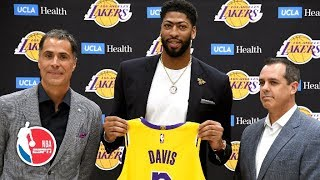 Anthony Davis introduced by the Los Angeles Lakers | NBA on ESPN