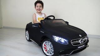 Yusuf'a yeni akülü araba siyah Mercedes Benz AMG! Açtık, kurduk, bindik, çok eğlendik!