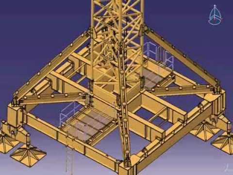 3D KNF Tower Crane - BASE PORTAL TYPE
