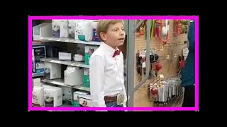 Walmart 'yodeling kid' Mason Ramsey stuns shoppers in viral video