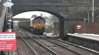 February 2016 Part 2 - WCML diverts over the G&SW lines in Ayrshire - New Cumnock 18-02-16