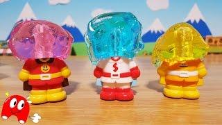 アンパンマン アニメ&おもちゃ 型遊び!スライムのようなジェルで遊んだよ!カレーパンマン しょくぱんまん 作ってみたよ!不思議な触感だね