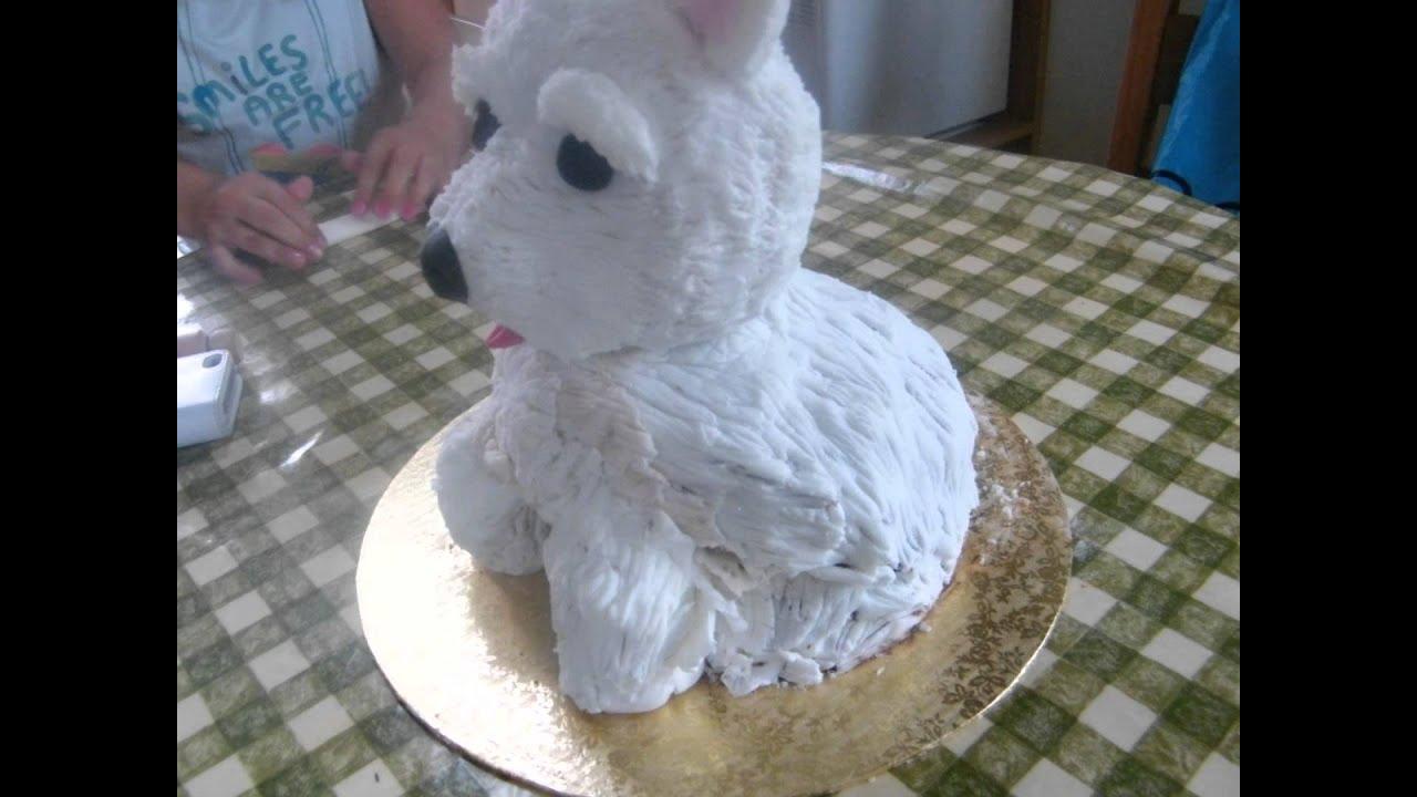 How To Make A Dog Shaped Cake Easy
