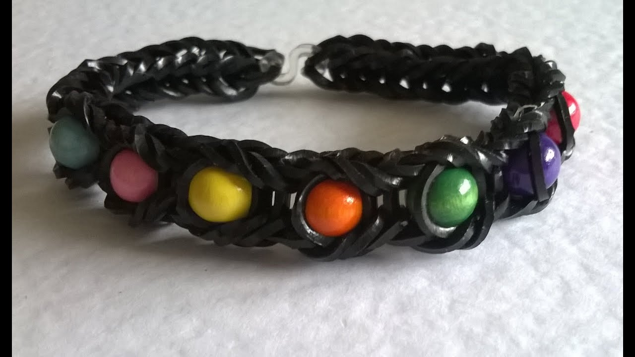 Fishtail Loom Bracelet With Beads Beaded Fishtail Loom Band