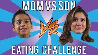 Mom Vs Son EATING CHALLENGE! ANDREA ESPADA VS KING FERRAN!!! LOSER GET PIE IN FACE