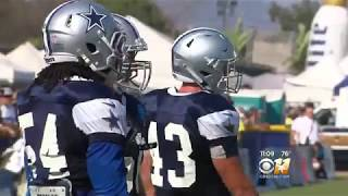 CBS 11 Cowboys Training Camp 8-12-18 LVE profile and Jaylon Smith talks