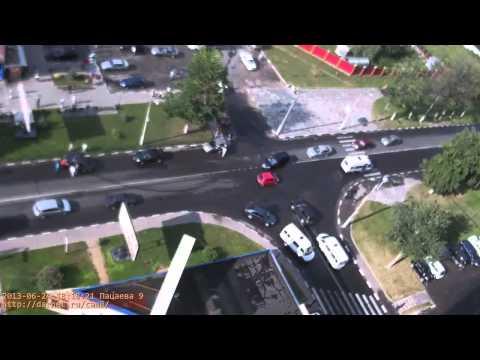 Дарнет Долгопрудный (веб-камера): ДТП на перекрестке Пацаева — Спортивная 24/06/2013 — 18:16:00