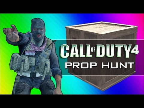 Call of Duty 4: Prop Hunt Funny Moments — Home Alone Rated R, Scanning for Retards (CoD4 Mod)