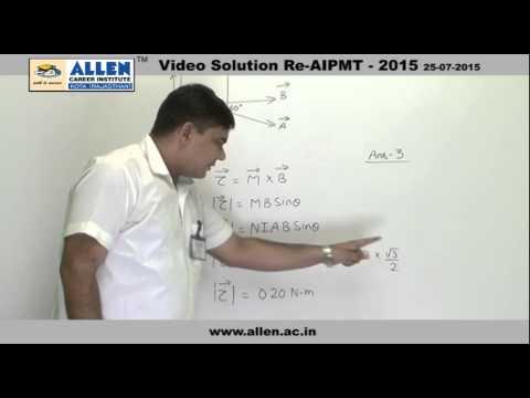 AIPMT 2015 Re-Exam Physics Solution – Q. No. 146, 148, 150 (Paper Code-A)