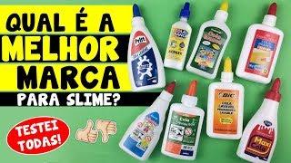 TESTANDO marcas de COLA para SLIME #1 | TIO LUCAS