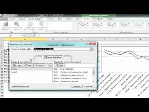 Excel - Actividad 3y4 - Gráfico de líneas
