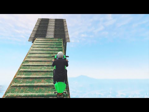 Impossible Mile High Stunts (gta 5 Funny Moments) video