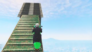 Impossible Mile High Stunts (GTA 5 Funny Moments)