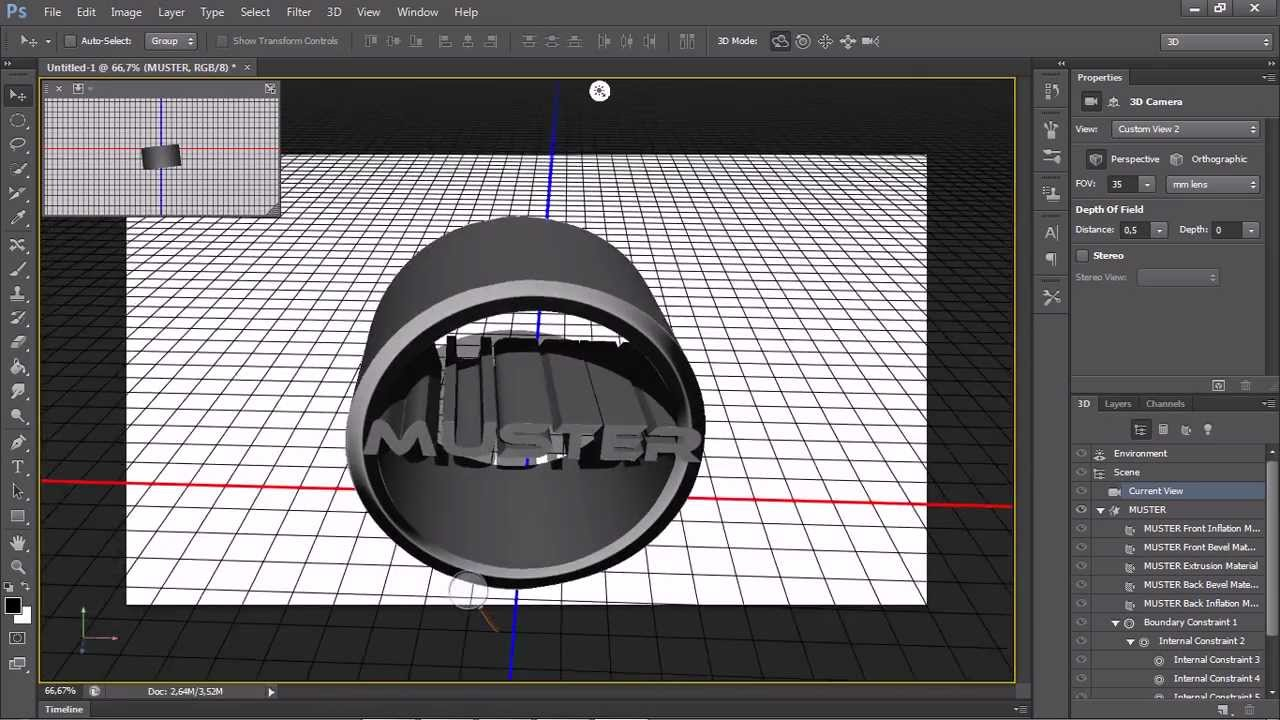 Photoshop Cs6 3D Logo Tutorial [German] - YouTube