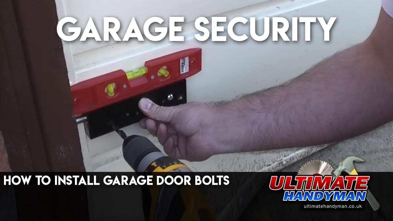 How To Install Garage Door Bolts Youtube