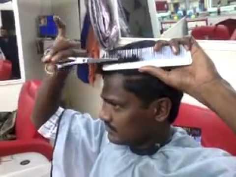 se corta el cabello solo!!!