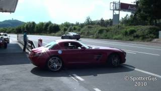 Mercedes-Benz SLS AMG sound - startup & accelerations; 1080p HD