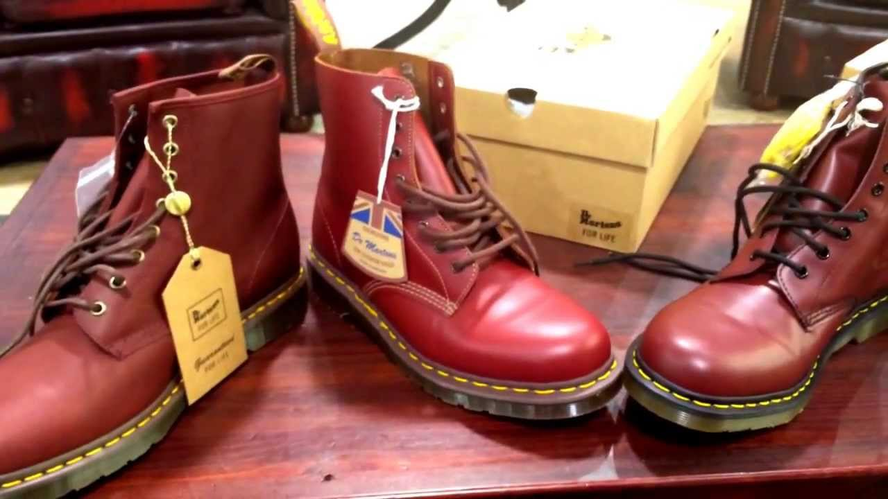 Dr. Martens: Oxblood vs Cherry Red - YouTube