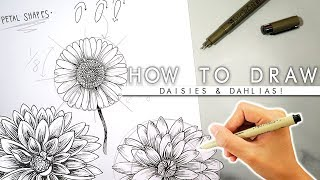 How To Draw Flowers 🌼ADVANCED🌼 My 2019 Bullet Journal Flowers