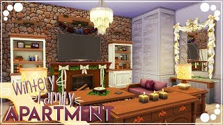 WINTERY FAMILY APARTMENT ⛄ | The Sims 4 | Speed Build