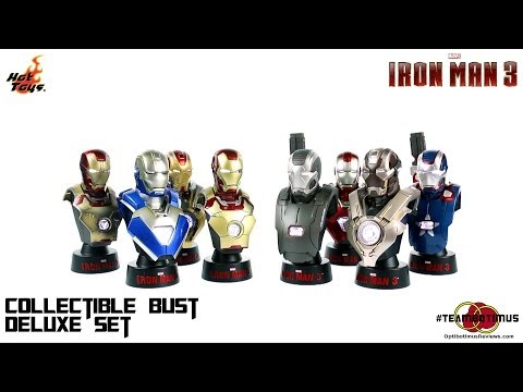 Video Review of the Hot Toys: 1/6 scale Iron Man 3 Collectible Bust Set