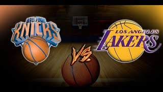 NBA New York Knicks vs Los Angeles Lakers LIVE SCORE BOX 1/4/19