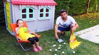 Babam Her Yeri Dağıttı! Little Kid Öykü Garden cleaning Pretend Play , Family fun kid - Oyuncak Avı
