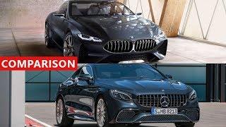 2018 Mercedes-Benz S-Class Coupe vs 2018 BMW 8 Series Comparison - Amazing Luxury Expensive Cars !!