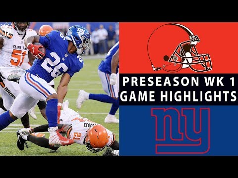Browns vs. Giants Highlights | NFL 2018 Preseason Week 1