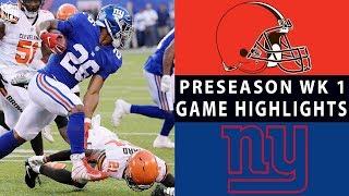 Browns vs. Giants Highlights | NFL 2018 Preseason Week 1