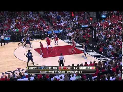 NBA, playoff 2015, Trail Blazers vs. Grizzlies, Round 1, Game 3, Move 11, Marc Gasol, airBall