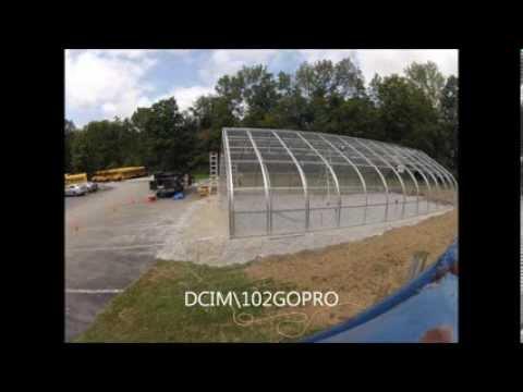 Long Trail School Time Lapse Rimol Greenhouse Construction - 08/31/2013