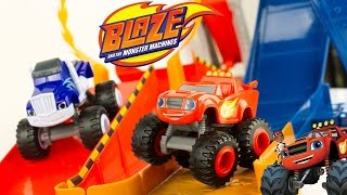Blaze Monster Machines Piste Monster Dome Cars Looping Jouet Voitures Toy Review Juguetes