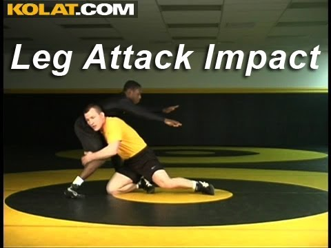 Leg Attack Impact KOLAT.COM Wrestling Techniques Moves Instruction Image 1