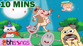 Hey Diddle Diddle ♫ Nursery Rhymes Songs with Lyrics and Action for babies Non Stop !