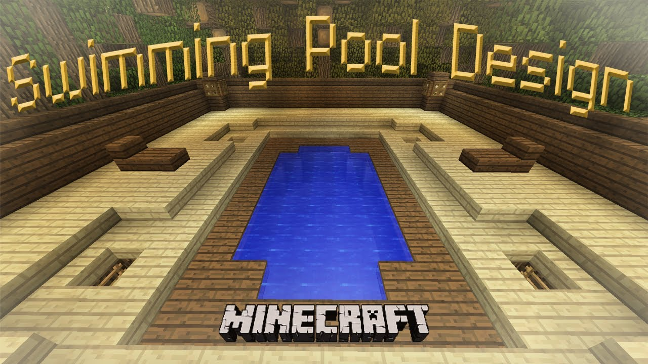Minecraft How To Make A Cool Swimming Pool Design Youtube